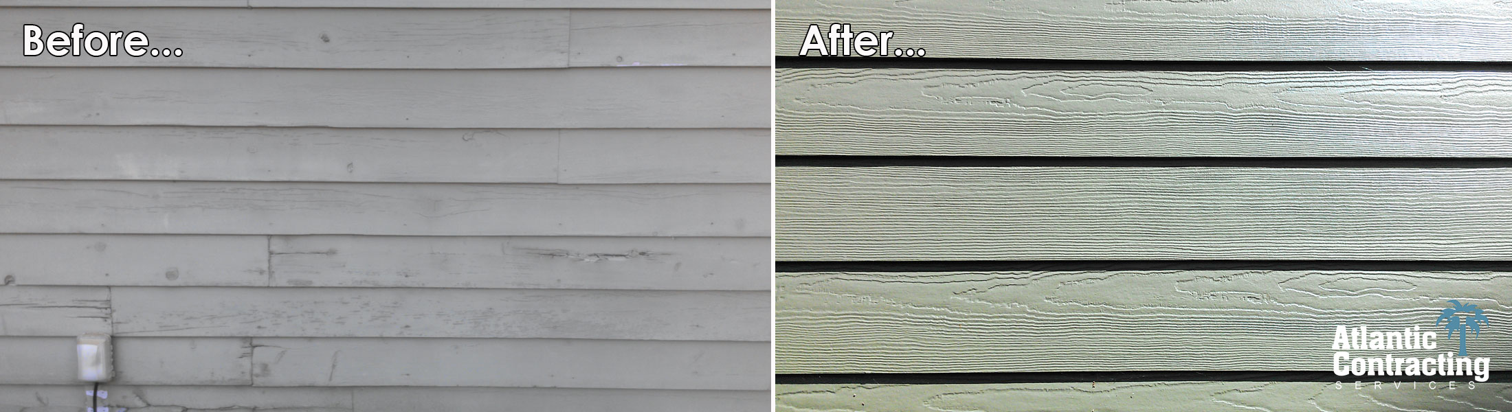 "ColorPlus – Light Mist, 4"" Lap Hardieplank Siding. ColorPlus Artic White, HardieTrim"