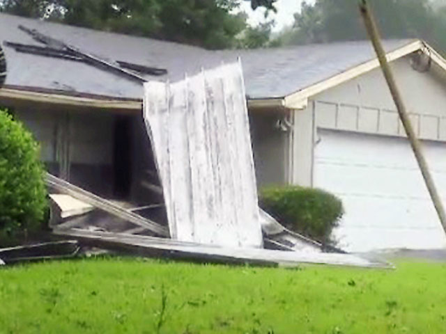 Beaufort County, S.C. Hurricane Wind Damaged Home